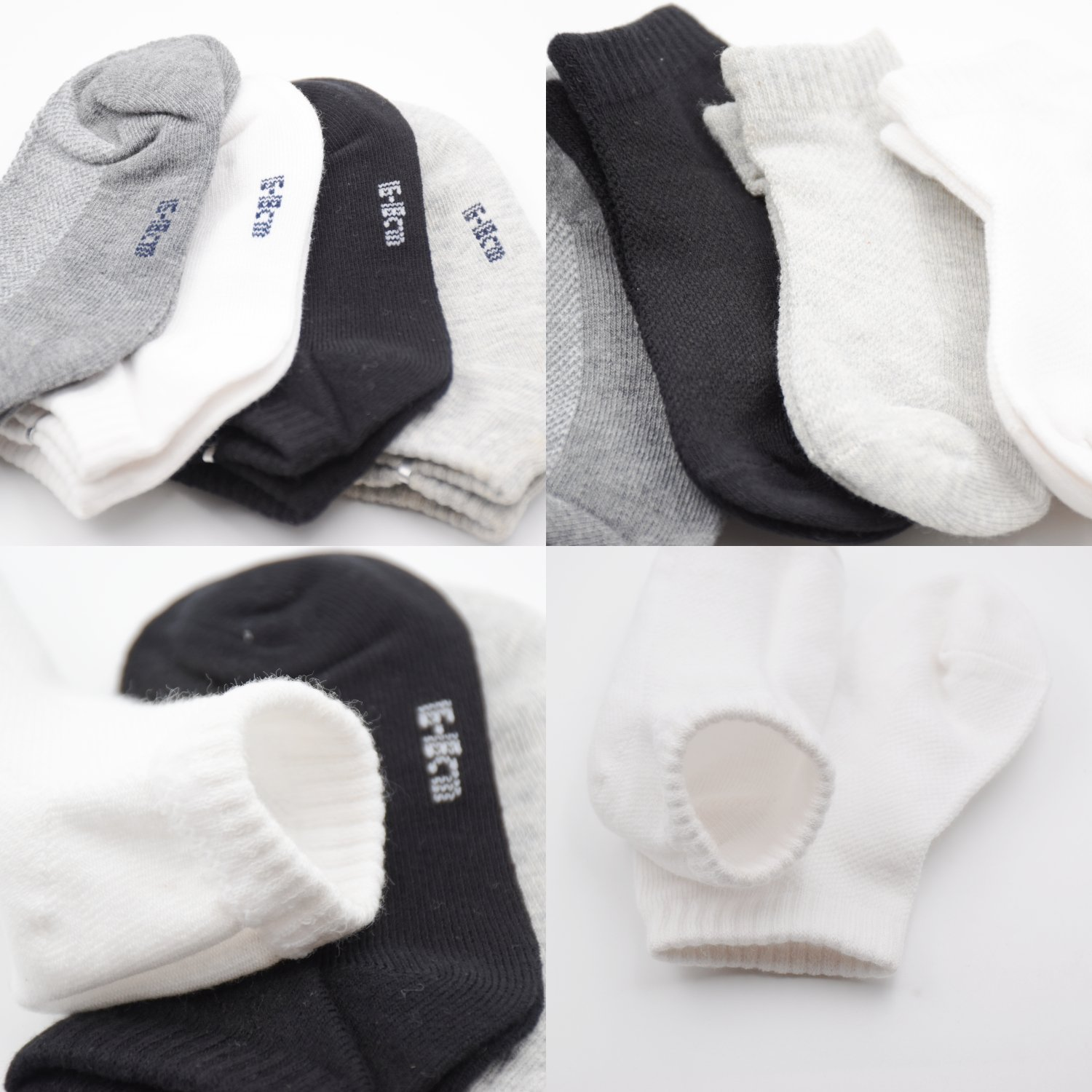 Vearin Boys Toddler 4-Pack Sports Ankle Socks