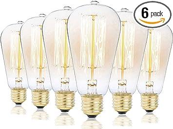 Romantic 40W//E27 Filament Light Lamp Bulb Vintage Industrial-Style Lamp Eddison