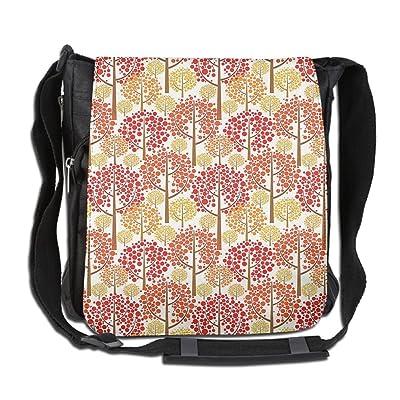 Lovebbag Autumn Forest Inspired Trees With Dot Leaves Fall Elegance Graphic Crossbody Messenger Bag