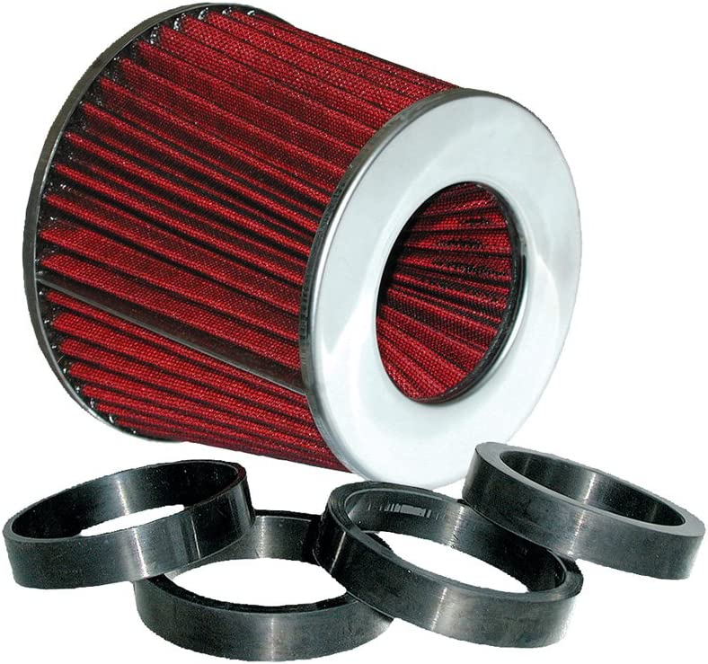 Eufab 17230 Sports Air Filter Universal With 6 Adaptors Large Red Auto