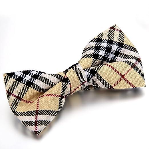 2 opinioni per Jewelrywe Gioielli Bow Tie British style Grid