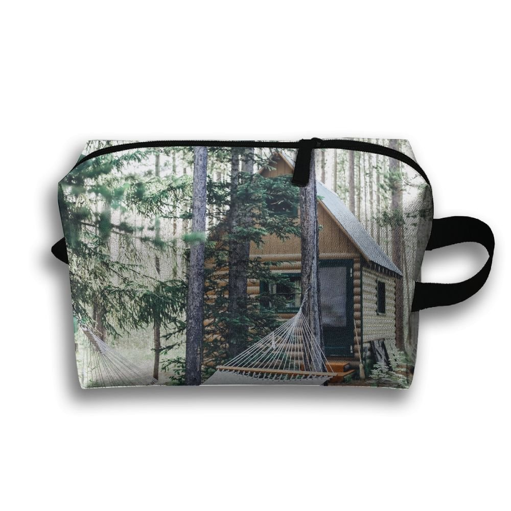pengyongグレーHammock in the Woods Small Travel Toiletry Bagスーパーライトトイレタリーオーガナイザー一泊旅行用バッグ   B07C7TZGQM