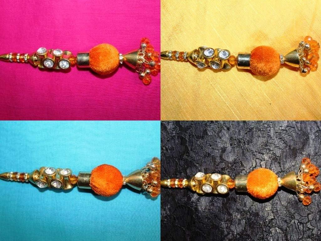 Orange Tassel Bohemian Tassel Jewelry Tassels Set of 02 Tassels by iDukaancrafts