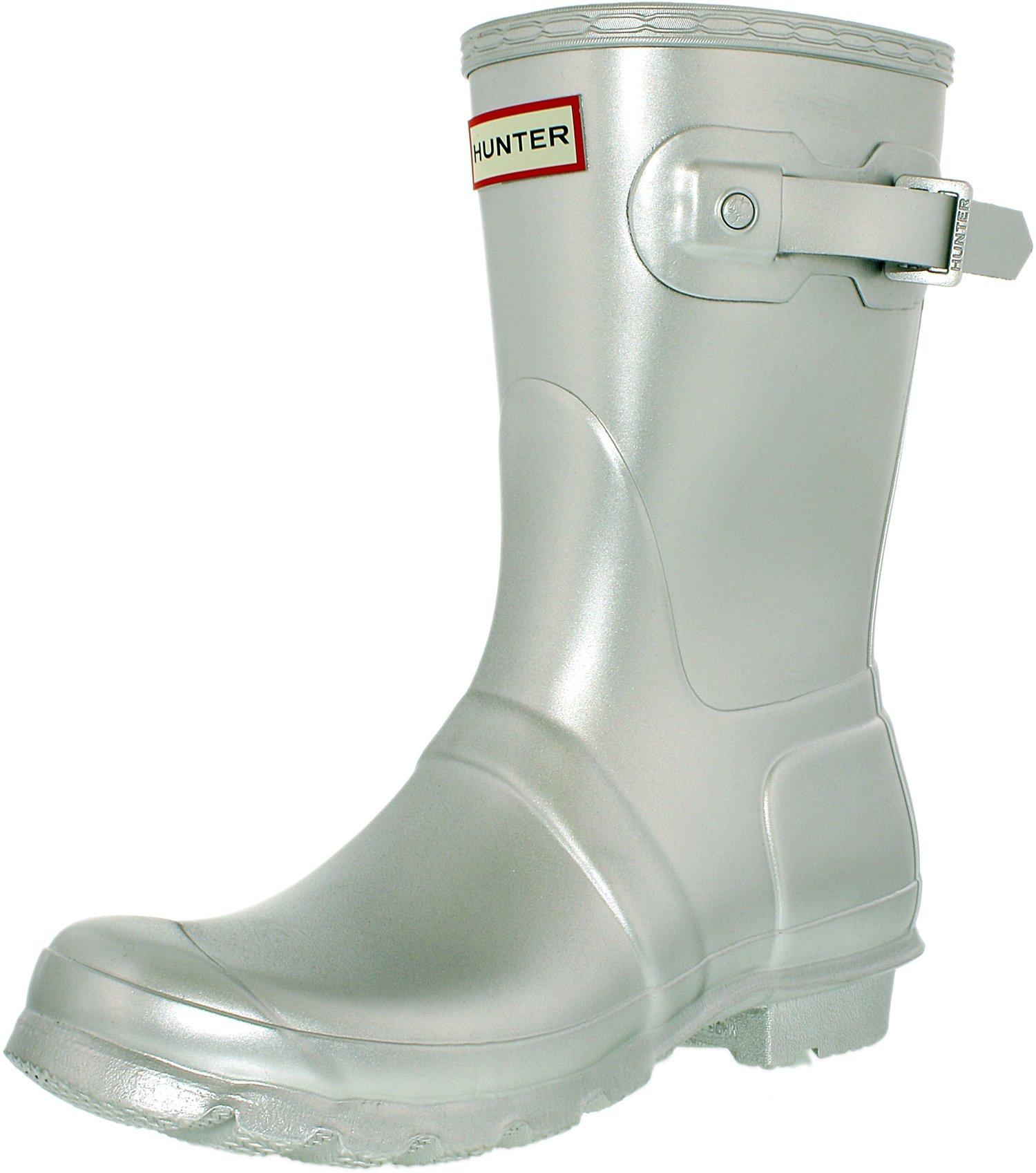 Hunter Boots Women's Original Short Boots, Silver, 6 B(M) US
