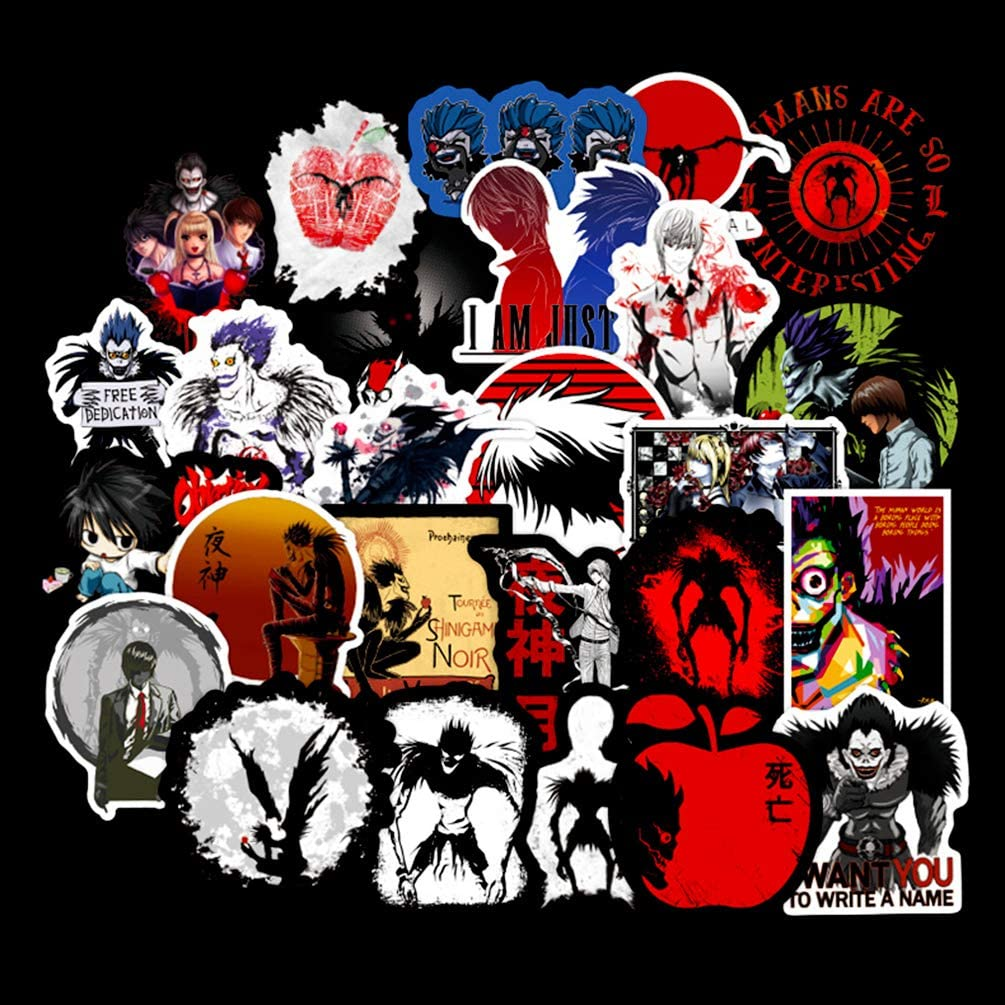 Death Note Cool Anime Stickers for Laptop Notebook Wall Water Bottle Luggage Helmet Bike Motorcycle 50pcs