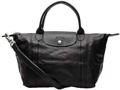 Longchamp bags LONGCHAMP 1512 737 001 LE PLIAGE CUIR shoulder bag NOIR