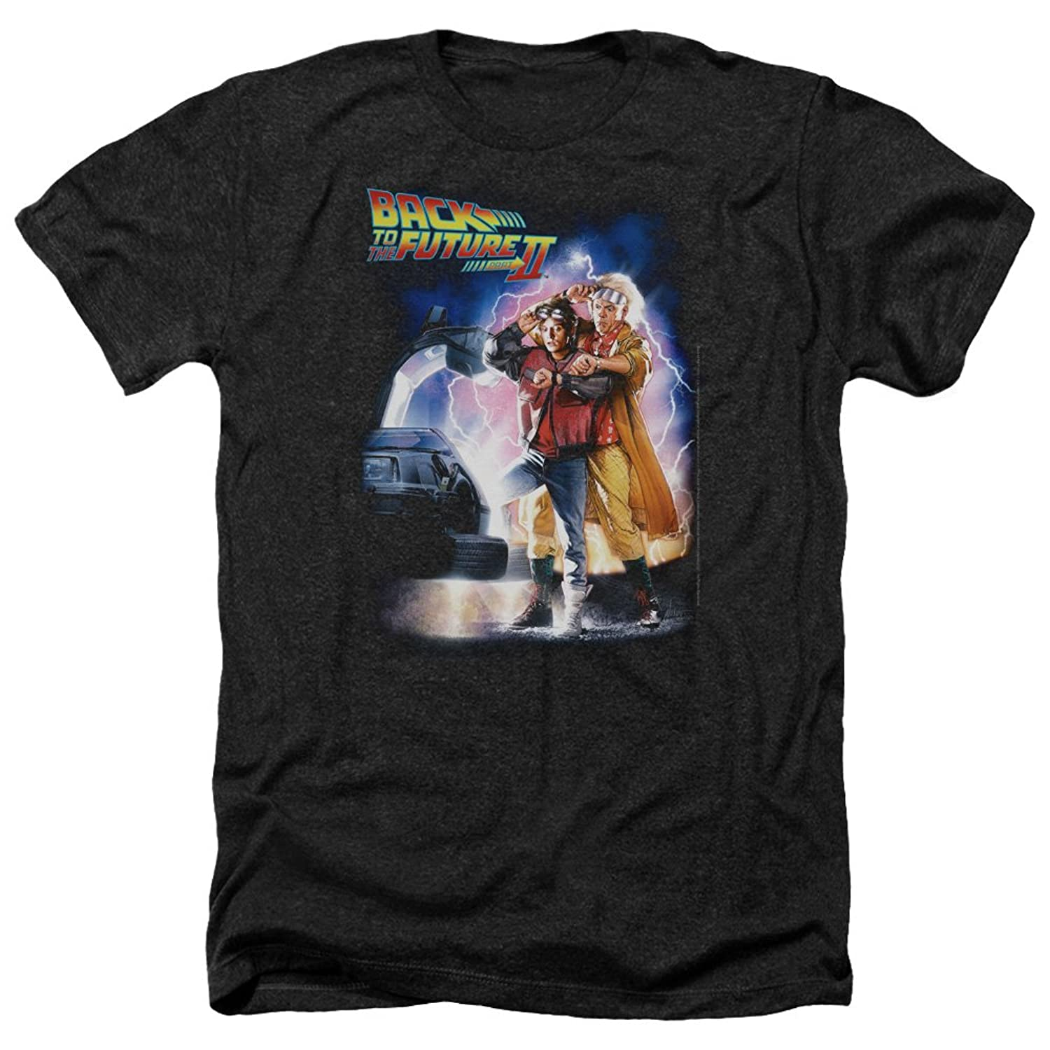 Back To The Science Fiction Comedy Movie Poster Adult Heather T-Shirt Tee