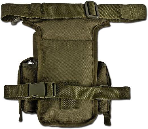 Marsupio Cosciale Militare con Tasche MilTec Tan con Attacco Cintura e Tracolla