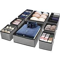 (8 Set) Puricon Clothes Organizers Dresser Drawer Organization, Foldable Closet Organizer Underwear Basket Cubes…