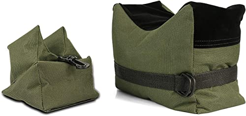 Twod Outdoor Shooting Rest Bags Target Sports Shooting Bench Rest Front & Rear Support SandBag Stand Holders for Gun Rifle Shooting Hunting Photography...