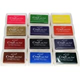 Miraclekoo Craft Ink Pad Stamps Partner Set of 12 DIY Assorted Color