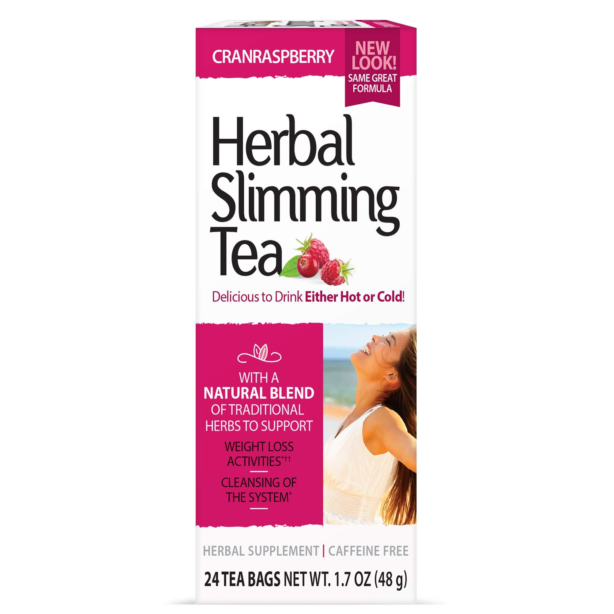 21st Century Slimming Tea, Cran Raspberry 24 Count