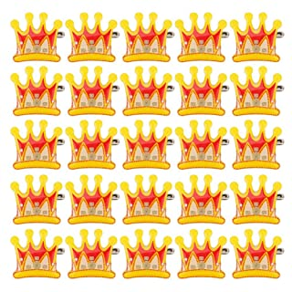 Walfront 25PCS Badge-a-minit Pulsanti, colorato Corona LED Flash Badge Pin Decorazione del Pulsante
