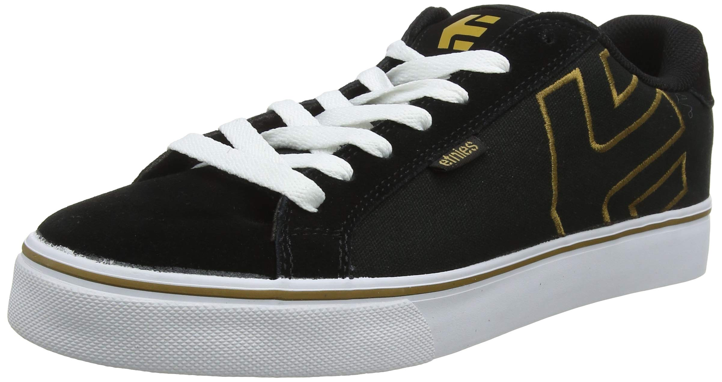 Etnies Men's Fader Vulc Skate Shoe, Black/Gum/White, 9.5 Medium US by Etnies