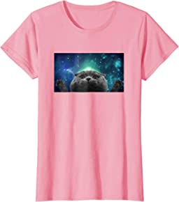 Womens Scottish Fold Cat Universe Women's T-Shirt