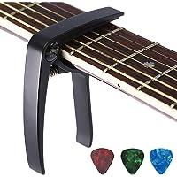 Asmuse™ Trigger Cejilla Guitarra Española Electricas Clásica Electrica Acustica Clasica Folk Ukelele Bajo instrumento guitar Capo Ligero Aleación de Aluminio con 3 selecciones guitarra