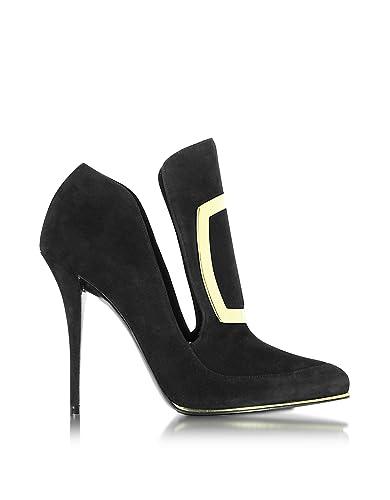 W6ces011104176 Femme Noir Chaussures TalonsAmazon À Suède Balmain qzpUVSM