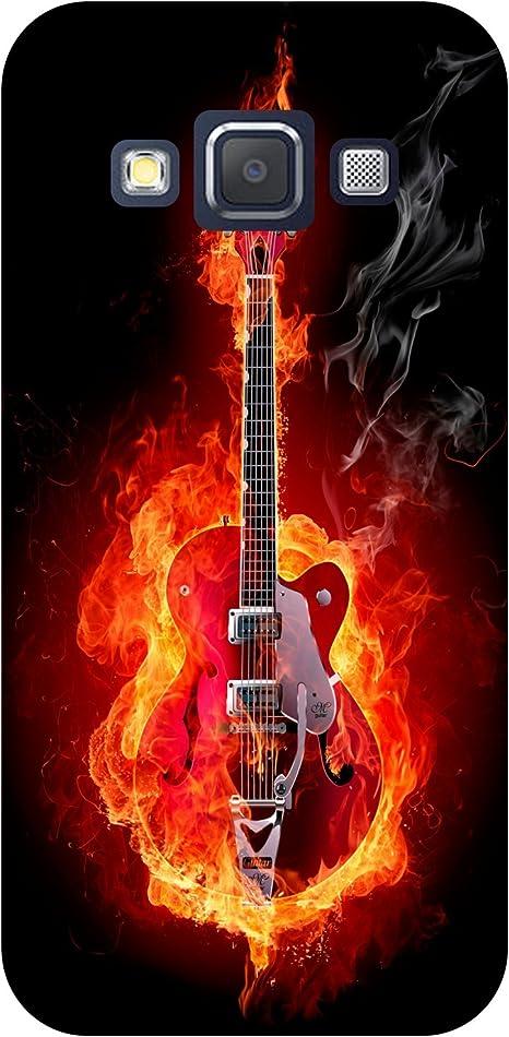 Carcasa Samsung Galaxy A9 – Guitarra en fuego: Amazon.es: Informática