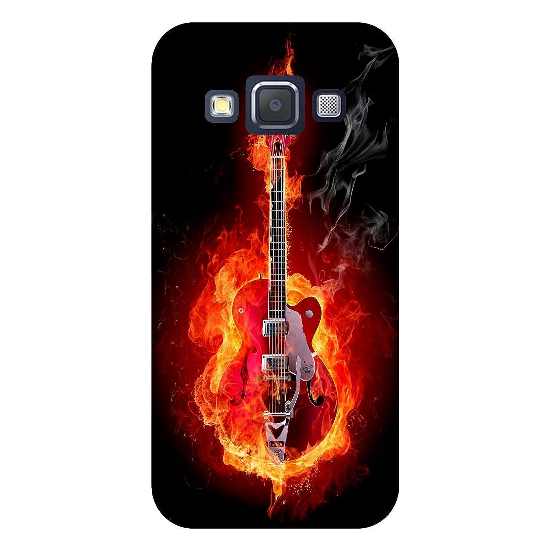 Carcasa Samsung Galaxy A7 guitarra en fuego: Amazon.es: Informática
