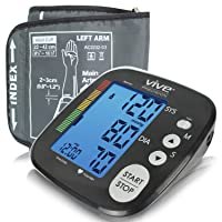 Vive Precision Blood Pressure Machine - Heart Rate Monitor - Automatic BPM Sphygmomanometer...