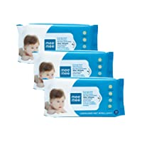 Mee Mee Caring Baby Wet Wipes with Lemon Fragrance (72 pcs/pack) (Pack of 3)