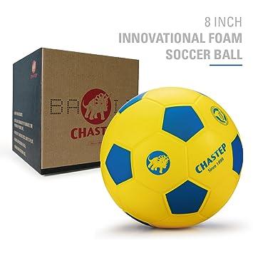 Pelota de espuma PU Ball interior de balón de fútbol 8 pulgadas jaune bleu aa8c608ca0d7