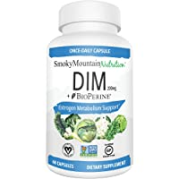 DIM Supplement 200mg - DIM Diindolylmethane Plus BioPerine 60-Day Supply of DIM for Estrogen Balance, Hormone Menopause Relief, Acne Treatment, PCOS, Bodybuilding