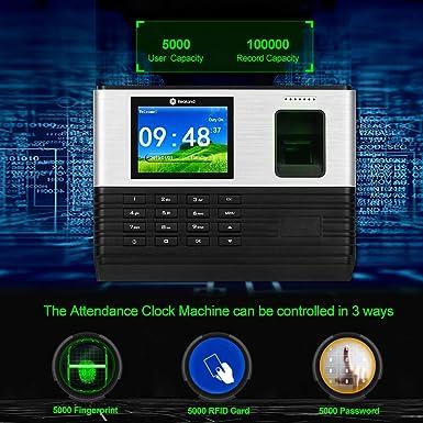 Hdliang 2,8 inch TCP/IP/USB Wifi Biométrico Asistencia de huellas ...