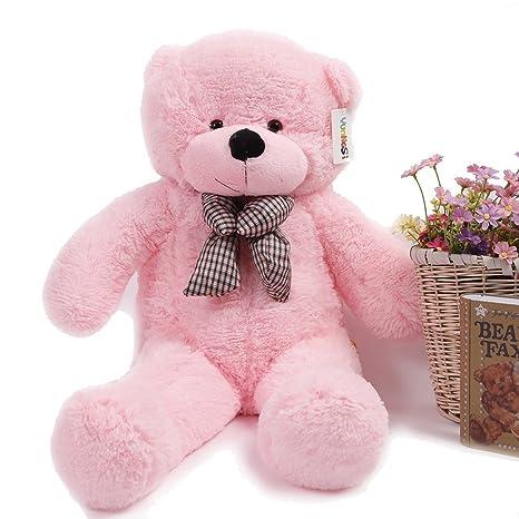 SINEDY 100CM Cute Teddy Bear Pink Giant Big Cute Plush
