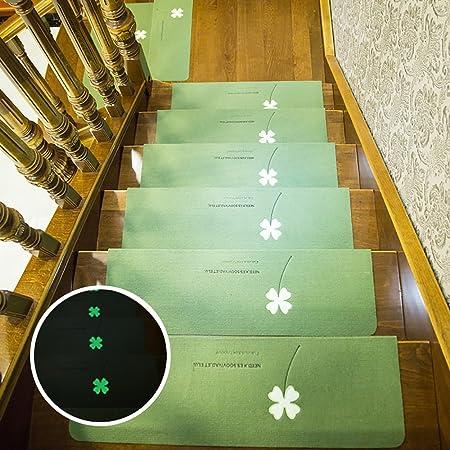 ZZHF Escaleras de Madera Maciza Escalera Antideslizante/Hogar Sin Adhesivo Alfombra autoadhesiva/Escaleras nocturnas alfombras de habitacion (Color : Verde, Tamaño : 55 * 22cm-(A Pack of 1)): Amazon.es: Hogar