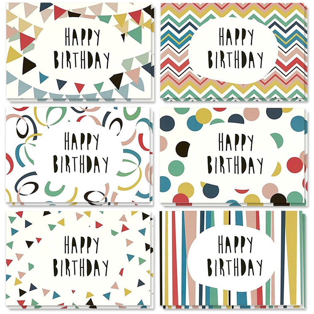 Amazon 36 Pack Happy Birthday Greeting Cards 6 Handwritten