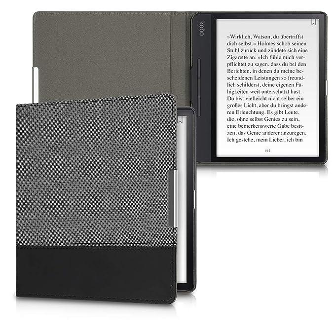 1 opinioni per kwmobile Kobo Forma Cover- Custodia a Libro in Tela e Pelle PU- Copertina Flip