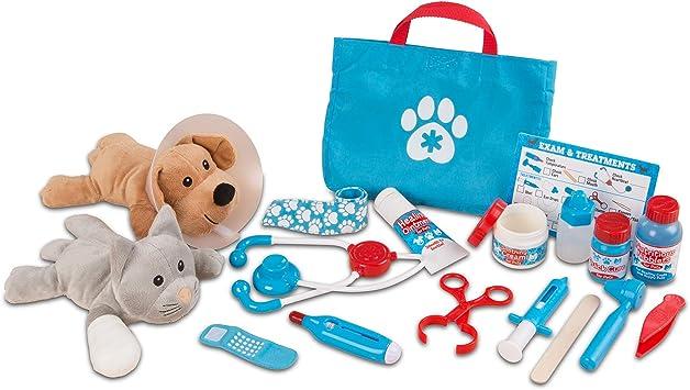 Regalo Nina 3 Anos Original.Amazon Com Melissa Doug Examine Treat Pet Vet Play Set