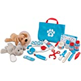 Melissa & Doug 8520 Examine & Treat Pet Vet Play Set (Animal & People Play Sets, Helps Children Develop Empathy, 24…
