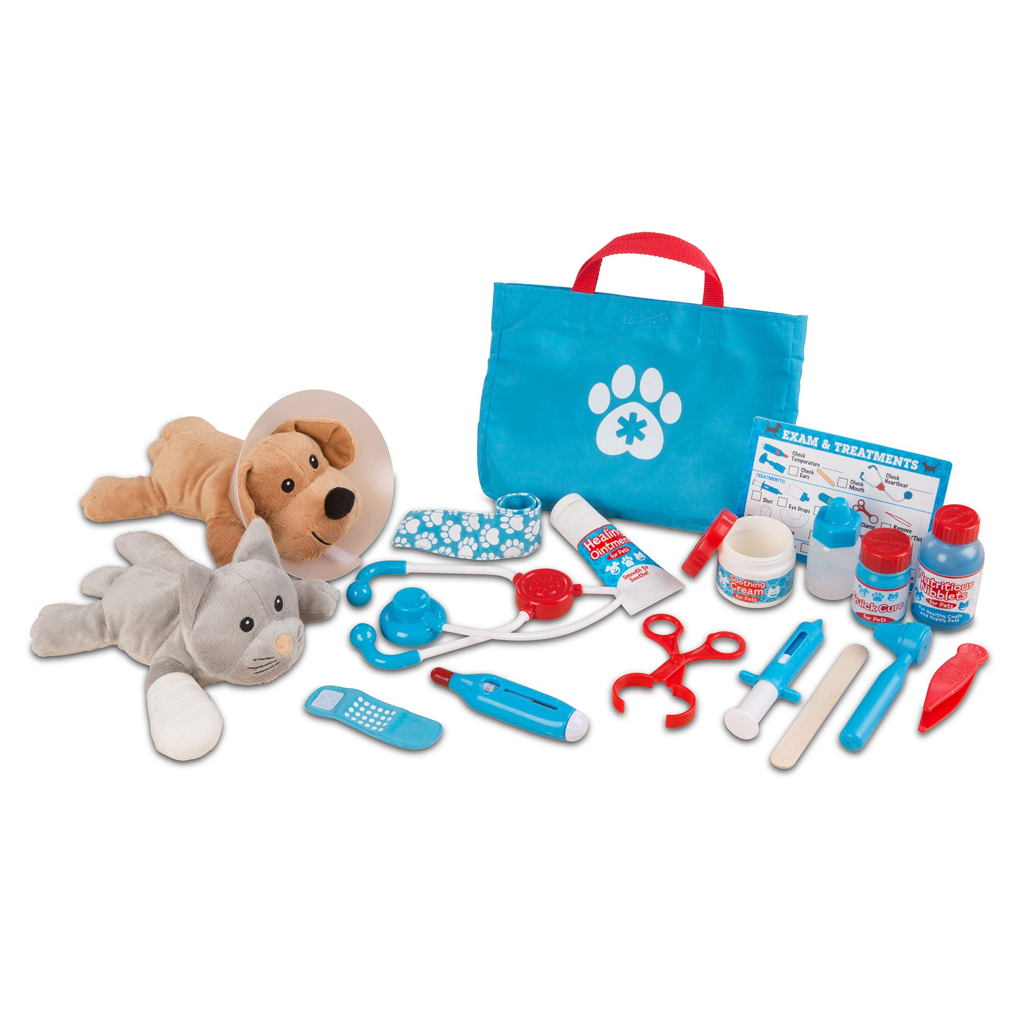 Melissa & Doug Examine & Treat Pet Vet Play Set (Animal & People Play Sets, Helps Children Develop Empathy, 24 Pieces, Great Gift for Girls and Boys - Best for 3, 4, 5 Year Olds and Up) by Melissa & Doug