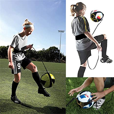 Football Kick Throw Solo Practice Training Aid Improving Control Skills Adjustable Waist Belt Elastic Rope Hands Free for Kids Adults Soccer//Volleyball//Rugby Trainer
