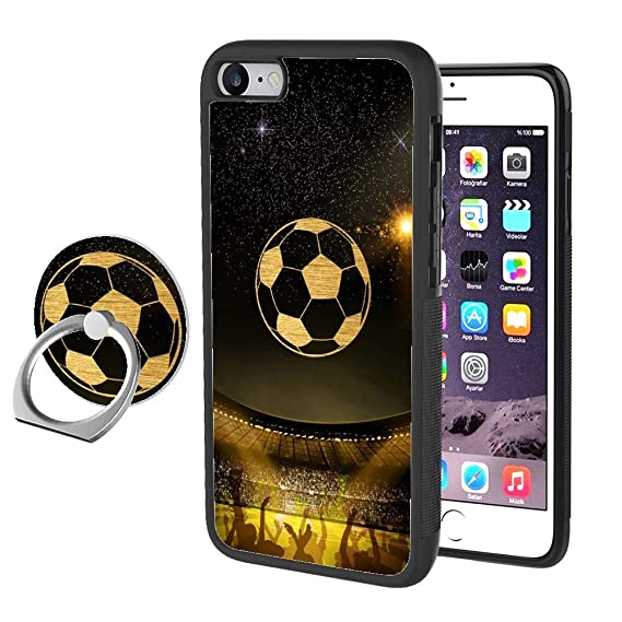 532ce19d6165c Amazon.com: iPhone 7 8 Case with Ring Holder Stand Football Rotating ...