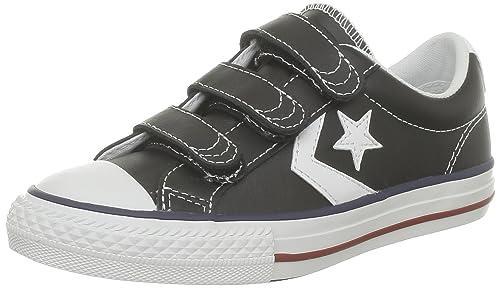 Converse Sp Ev 3V Lea Ox 290330-31-8 - Zapatillas para niños, color negro, talla 29: Amazon.es: Zapatos y complementos