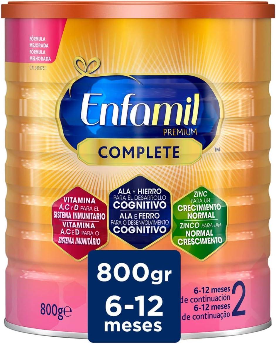 Enfamil Premium Complete 2 - Leche Infantil de Continuación para Lactantes Bebés de 6 a 12 Meses, 800 gr: Amazon.es: Alimentación y bebidas