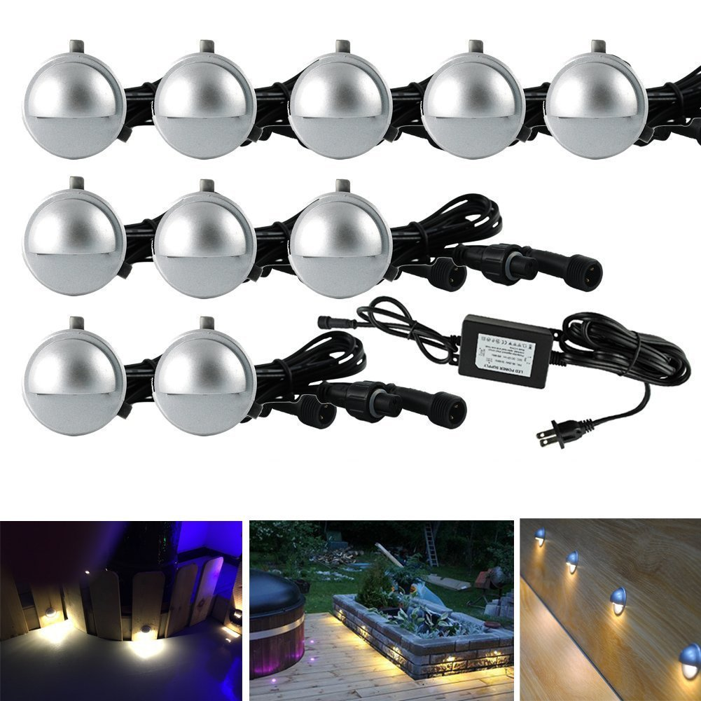 pack of 10 low voltage led deck light kit Φ1 38 waterproof outdoor