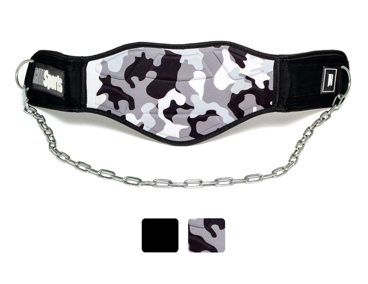Premium Dip Belt With Chain-Ideal Dipping Belt for Men&Women-Use For Dips,Weightlifting,Lifting,Weight-Ideal Dip Belt Weightlifting-Best Weight Belt For Pull Ups & Dips-Dipping Belt(Camouflage Gray)