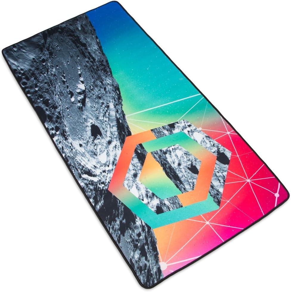 "Interstellar Space Deskpad - Lunar Landing Custom Design Extra Large Microfiber Mousepad for Laptops, Computer Monitors, Tablets, Keyboards 35"" x 15.5"" by Stratagem"