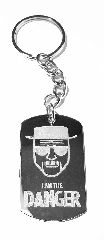 Metal Ring Key Chain Keychain I AM THE DANGER Chemistry Teacher Drug Kingpin TV Show