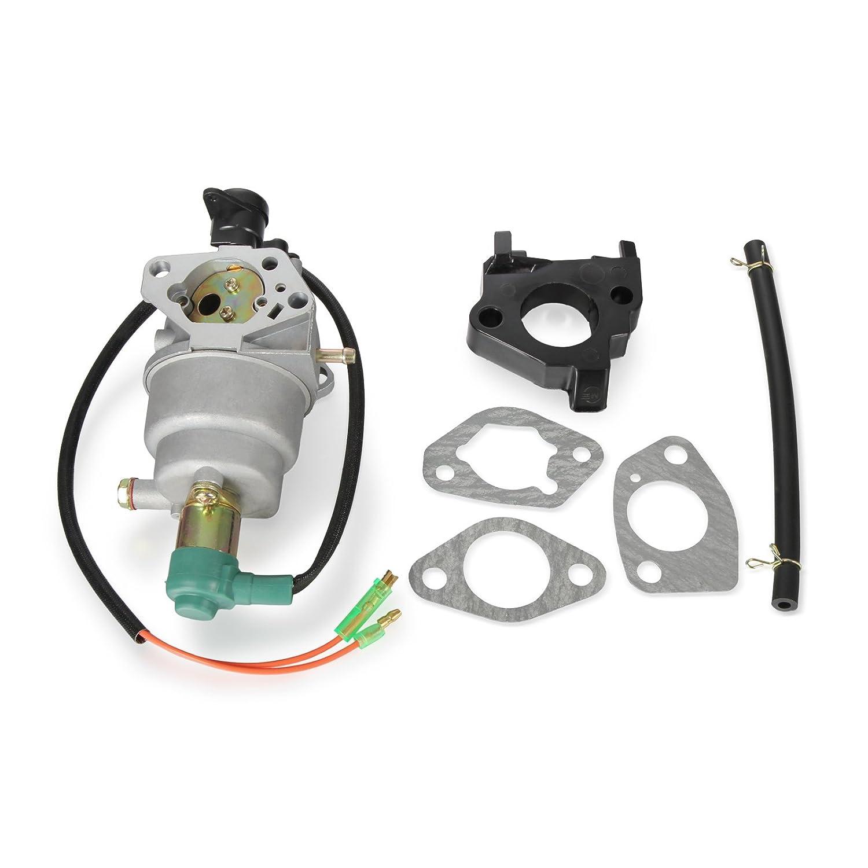 Twilight Garage Carburetor Carb 16100-Z5R-743 for Honda GX340 Gx390 188F Engine 13hp Generator Engine w/Gaskets Insulator Fuel Line