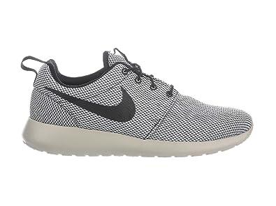 b0e1bb2db9c8 NIKE Men s Roshe One Black Pure Platinum Pale Grey Nylon Running Shoes 8 D