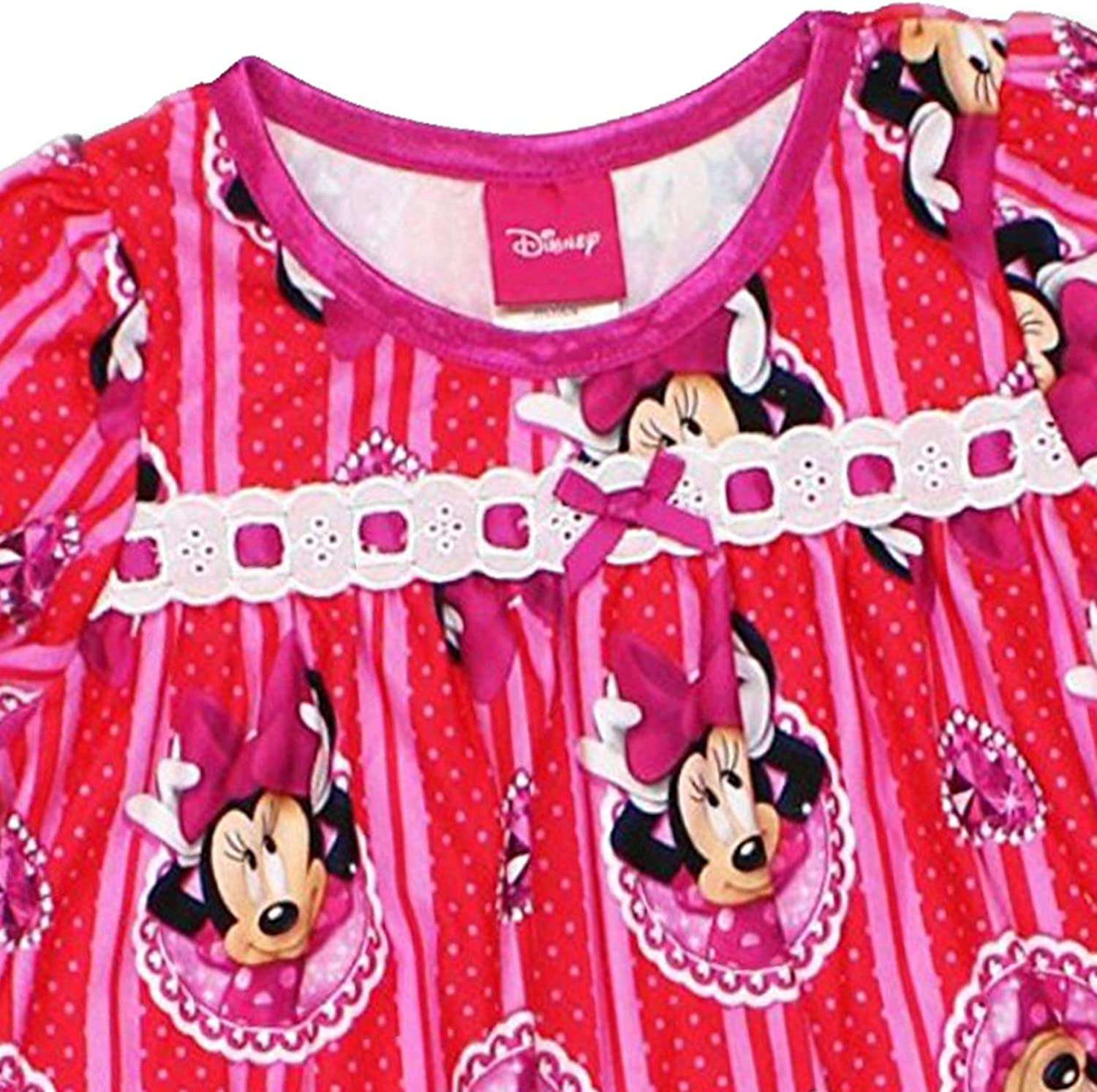 Minnie Mouse Girls Flannel Granny Gown Nightgown Toddler//Little Kid//Big Kid