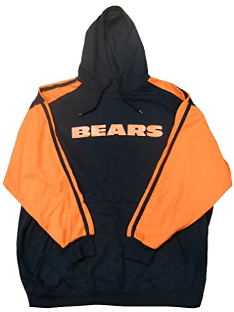 promo code 0dea8 7a890 Majestic Chicago Bears NFL Mens Shut Down Pullover Hoodie Navy Blue Big  Sizes