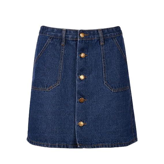 Falda Corta Vaquera Desigual/Falda Corta Elastica Azul 💖QIjinlook ...