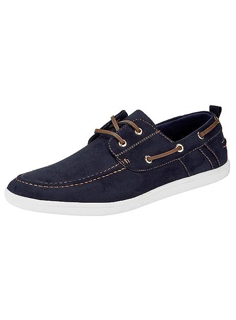 oodji Ultra Hombre Zapatos de Ante Sintético con Cordones Decorativos: Amazon.es: Zapatos y complementos