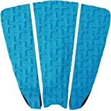 Premium Surfboard Traction Pad [CHOOSE COLOR] 3 Piece, Full Size, Maximum Grip, 3M Adhesive, for Surfing or Skimboarding